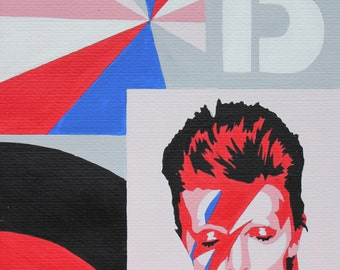David Bowie Limited Edition Giclee Print by Anna-Marie Bush from an edition of 250 large size (A3) 32.7 × 45 cm