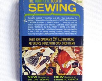 The Complete Book of Sewing, By Constance Talbot, Vintage Sewing Book, 1960's Sewing