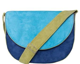 MIDI series - navy blue / turquoise / green messenger bag, midi crossbody bag