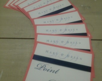 Double Layer Table Numbers with Ribbon  -SET OF 10 for wedding, bat/bar mitzvah, sweet 16, any occasion