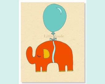 Children's Wall Art Print, Baby Boy Nursery Print, Orange Nursery Print, NURSERY ART PRINTS,  Nursery Wall Decor, Toddler Decor