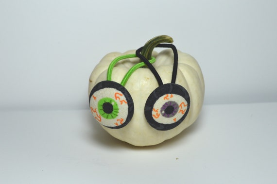 Halloween Hair Elastic / Eyeball Hair Tie /Button Hair Elastics/  Choose 1