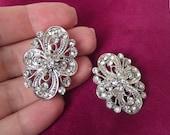 wedding brooch, crystal bridal brooch, swarovski brooch, bridal accessories, vintage style brooch, silver rhinestone brooch pin