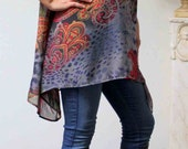 New Dashing and Trendy Plus size and Regular size Lagenlook Tunic Top in Abstract Print . M to 3XL.