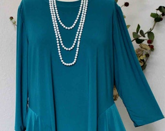 Adorable and Romantic Plus Size Tunic Top XL/1XL AND 2XL/3XL, Travler Tunic, Lagenlook Tunic, Boho, Country
