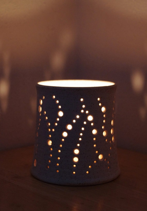 Items similar to Handmade Ceramic Luminary in Speckled ...
