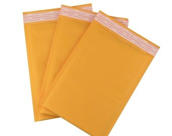 """Size #0 6.5"""" X 9.5"""" 25 Bubble Kraft Mailer Padded Bubble Shipping Envelope, Packaging Kraft  Approved USPS, UPS, Fedex and DHL, Self Sealing"""
