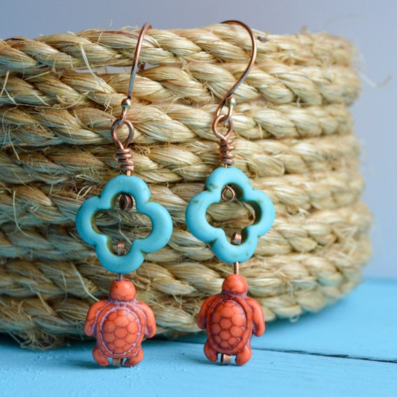 https://www.etsy.com/listing/161218036/orange-turtle-quatrefoil-turquoise