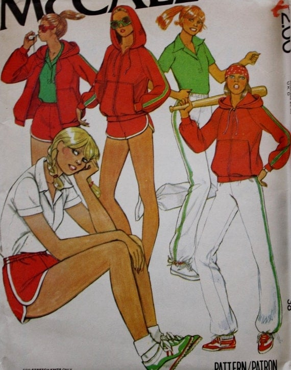 workout clothing vintage sewing pattern mccalls 6469 1970s