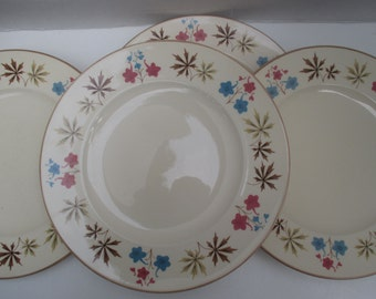 Franciscan China Larkspur Pattern Gladding McBean - Set of 4 Dinner Plates