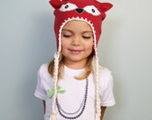 Baby / Toddler / Kids / Adult Hat - Fox Fleece Hat - iHEARTees