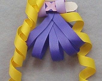 Rapunzel Ribbon Sculpture Clip