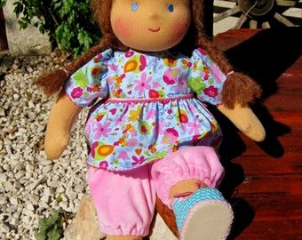 "Waldorf doll 13"" inches, Baby 2 for children from 2 years - A gift for birthday - girl"