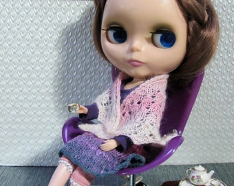 Lace Shawl blush pink - hand knitted for your BlytheStar