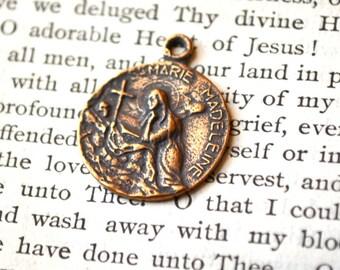 St Mary Magdalene Medal - Bronze or Sterling - St Mary Magdalene Sterling Silver Medal - St Mary Magdalene Bronze Medal (SF24-1131)