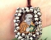 Scapular Catholic Christian Escapulario Religious beaded crystals Bracelet