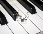Pretty Pianist - Piano Keyboard Earrings