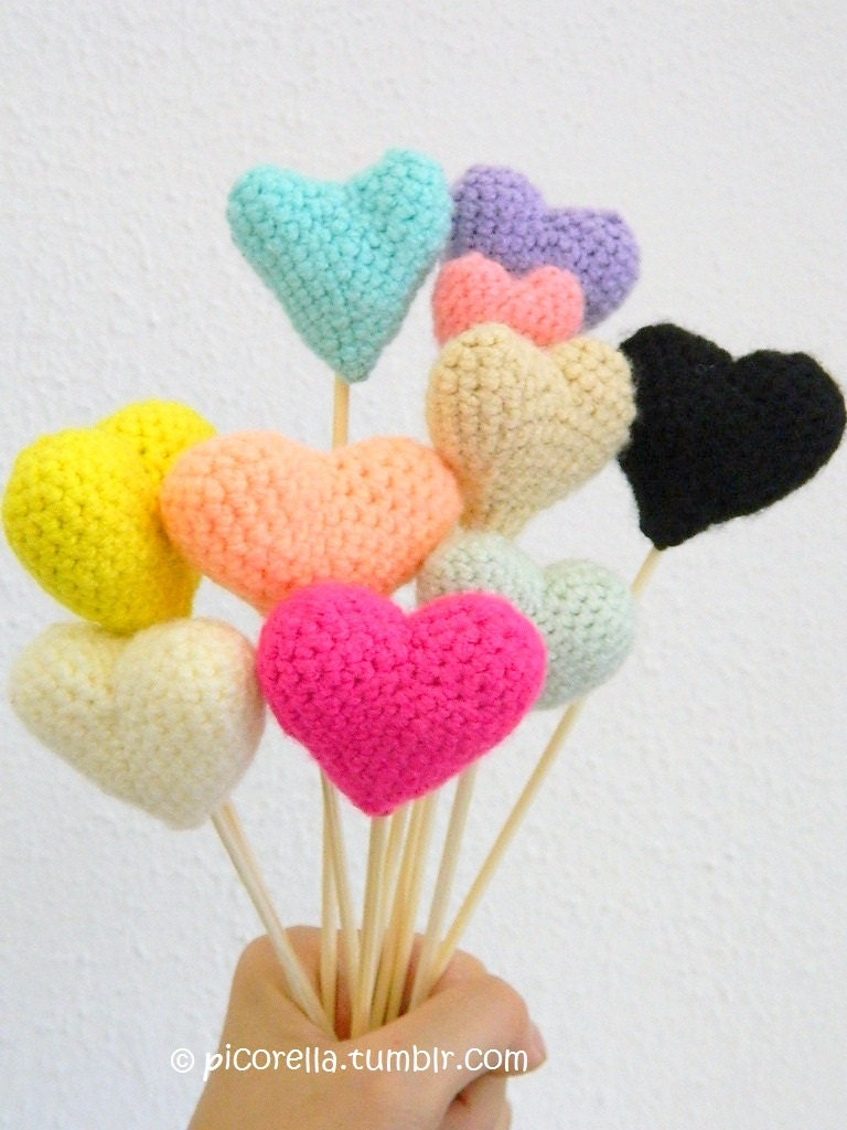 Pdf Amigurumi Hearts Amigurumi Hearts Pattern Amigurumi