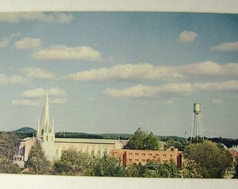 Vintage Postcards, Abbey of Gethsemani, Thomas Merton, Gothic Steeple, Trappist, Cisertian, Our Lady of Gethsemani