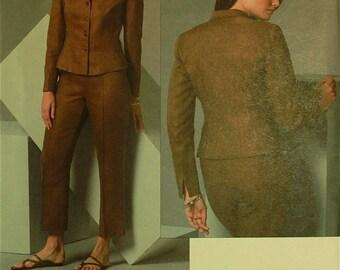 Jacket & Pants by Anne Klein - 2000's - Vogue Pattern 2897  Uncut Sizes  8-10-12, 20-22-24