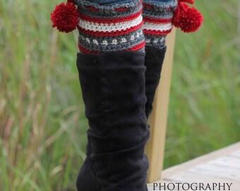 Dylan Leg Toppers (Boot Cuffs/Leg Warmers) Crochet PATTERN pdf (instant Download)