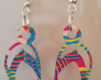 DUCT TAPE Multi-Color Flip Flop Earrings