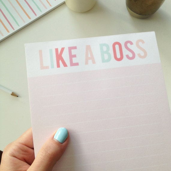 Like a Boss Notepad