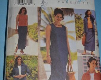 Butterick 3530 Misses/ Misses Petite Jacket Top Dress Skirt and Pants Sewing Pattern - UNCUT - Sizes  14 16 18