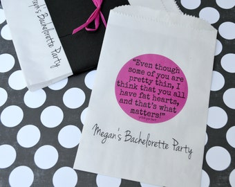 Bachelorette Favor Bags: 20 Personalized Pitch Perfect Movie Quote Bags