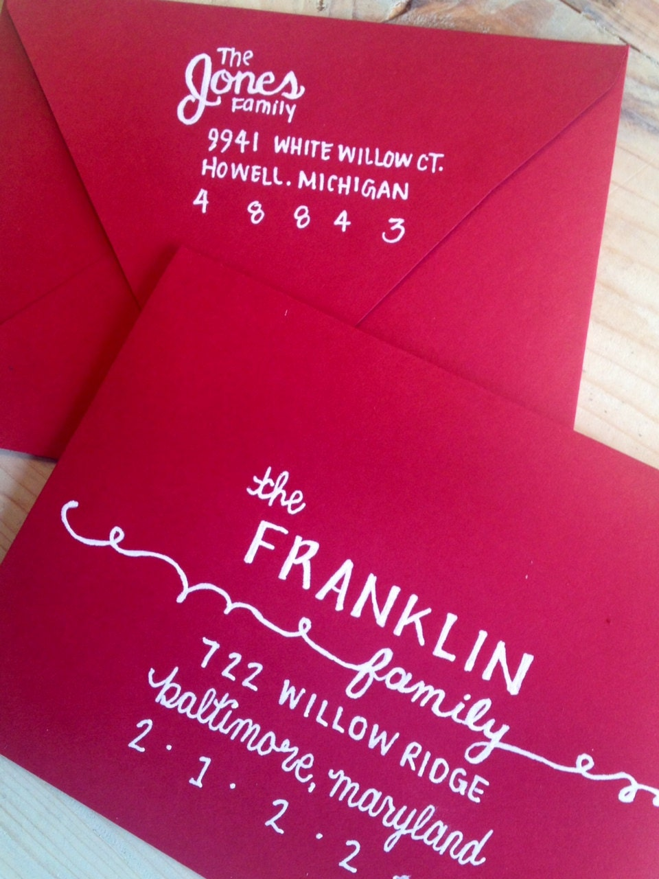 Hand Lettered Envelope With Return Address On By