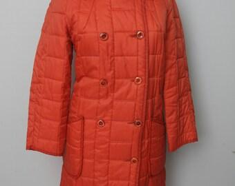 Vintage Orange Womens Parka Jacket by White Bean of St Paul