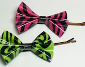 Duct Tape Hairbows, 2 Custom Bobby Pins