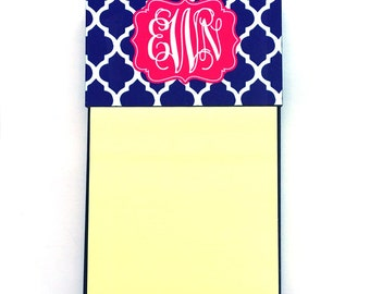 Monogram Sticky Note Holder | Personalized Post-it Note Holder