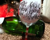 Dishwasher Safe Holiday Wine Glass