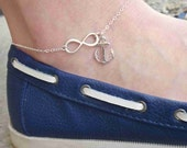 Infinity Anchor Anklet-anklet silver, gold anklet, chain anklet, anchor anklet, nautical anklet, anklet foot jewelry