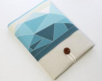 Macbook Pro cover, 13 in Macbook air case, 15 in Macbook Pro sleeve, laptop case, chromebook sleeve, blue laptop sleeve, 13 Macbook Air case