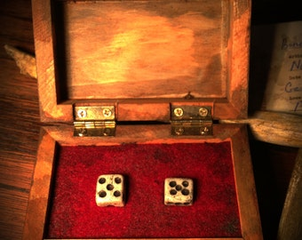 Dice Made of Human Bone found in the home of Ed Gein