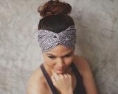 Lavender mix,Hippie Turban, Twist Headband ,twist headband,yoga headband