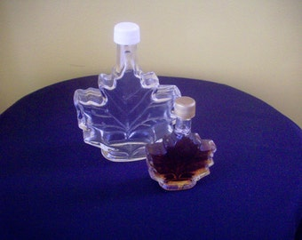 Pair of Maple Syrup Leaf Bottles