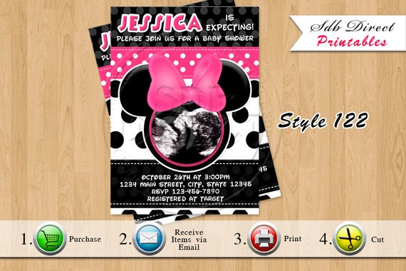 minnie mouse baby shower invitation minnie mouse baby shower pink