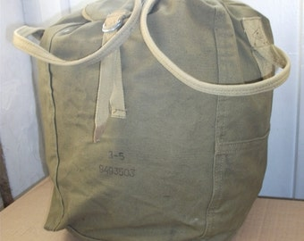 DEADSTOCK parachute bag. Carrying bag reserve parachute. Soviet army USSR CCCP Red army