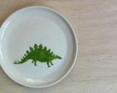 Stegosaurus Plate - Ceramic Dinosaur Plate / Child's Plate