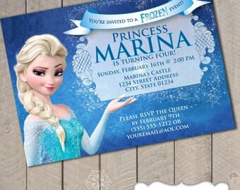 Disney Frozen Queen Elsa DIY Printable Invitation by Carta Couture