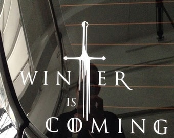 Winter Is Coming: Game Of Thrones Vinyl Decal (2 pack)