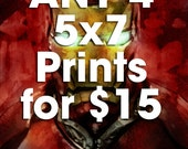 Any FOUR 5x7 Prints for 15 Dollars