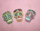 3 pcs - Sugar Skulls