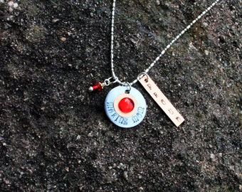 Marine Mom Necklace - Christmas Gifts - Military Mom Jewelry- Personalized Handstamped Jewelry