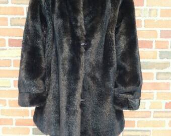 1970s Faux Fur Reversible Coat