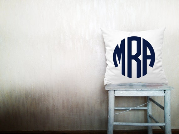 Monogrammed Throw Pillow Covers : Decorative throw pillows monogram pillow cover monogrammed