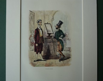 1940s Vintage Print From The Book Of Snobs By William Makepeace Thackery - English Literature - Old Victorian Novel - Old Book Illustration